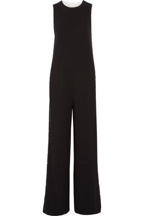 TIBI Two-tone crepe jumpsuit