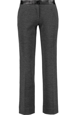 TORY BURCH Linette cropped wool-blend straight-leg pants