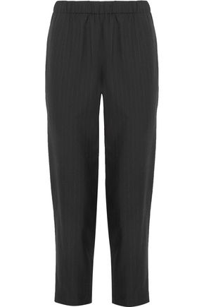 COMME DES GARÇONS COMME DES GARÇONS Cropped pinstriped wool tapered pants