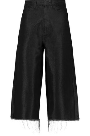 MARQUES ' ALMEIDA Frayed stretch-denim culottes