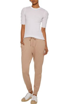 T by ALEXANDER WANG Cotton-blend terry track pants