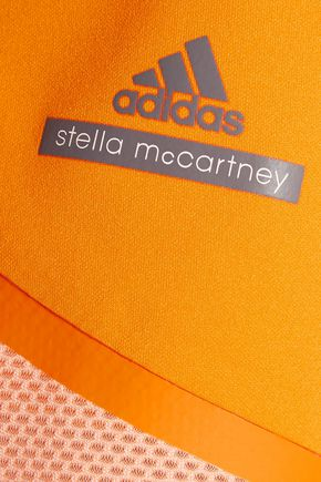 ADIDAS by STELLA McCARTNEY Mesh-trimmed skirt-effect stretch-jersey shorts