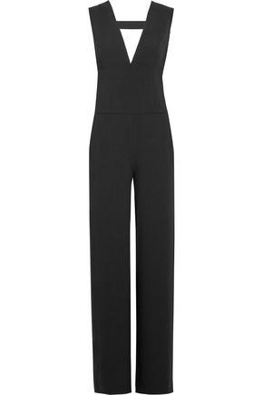 HALSTON HERITAGE Cutout stretch-crepe jumpsuit