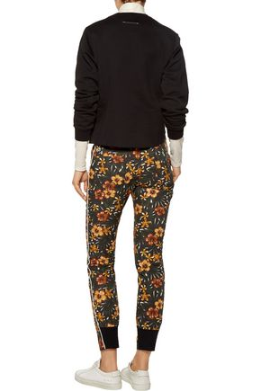 Y-3 + adidas printed cotton-poplin skinny pants