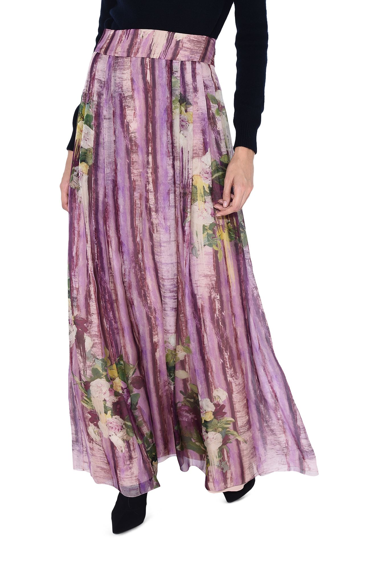 ALBERTA FERRETTI SKIRT D Knee-length floral skirt r