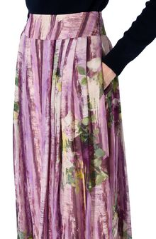 ALBERTA FERRETTI Long skirt with floral motif SKIRT D a