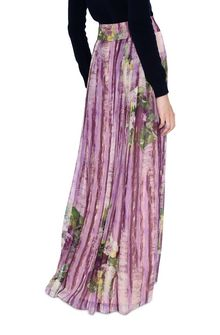 ALBERTA FERRETTI Long skirt with floral motif SKIRT D d