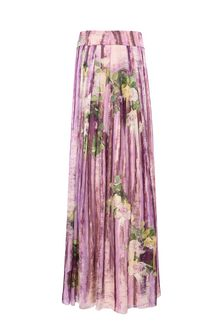 ALBERTA FERRETTI Long skirt with floral motif SKIRT D e
