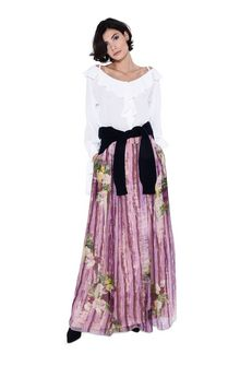 ALBERTA FERRETTI Long skirt with floral motif SKIRT D f