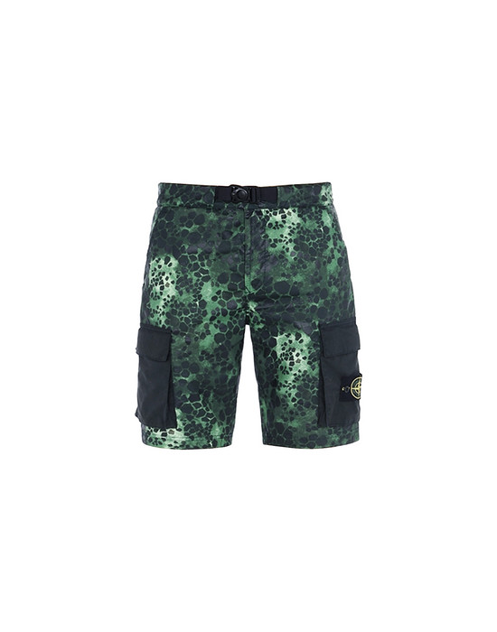 STONE ISLAND Bermuda shorts L15E2 ALLIGATOR CAMO LIGHT COTTON-NYLON TELA