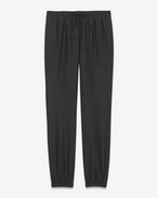 SAINT LAURENT Klassische Hosen U Jogging pants in anthracite cheesecloth f
