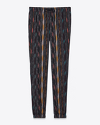 SAINT LAURENT Classic Pant U Jogging pants in cheesecloth with ikat patterns f