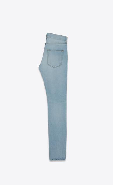 SAINT LAURENT Skinny fit Man low-waisted skinny jeans in faded sky blue denim b_V4
