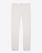 SAINT LAURENT Skinny fit U Low-waisted skinny jeans in stretch denim fabric f