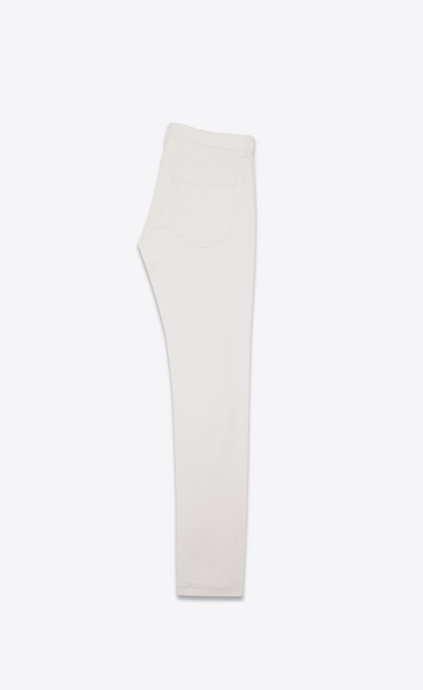 SAINT LAURENT Skinny fit Man Low-waisted skinny jeans in white stretch denim fabric b_V4