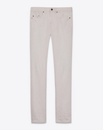 SAINT LAURENT Skinny fit U Low-waisted skinny jeans in powder pink denim f