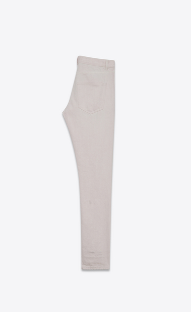SAINT LAURENT Skinny fit U Jean skinny taille basse en denim rose poudré b_V4