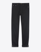 SAINT LAURENT Baggy U Baggy jeans in raw black denim f