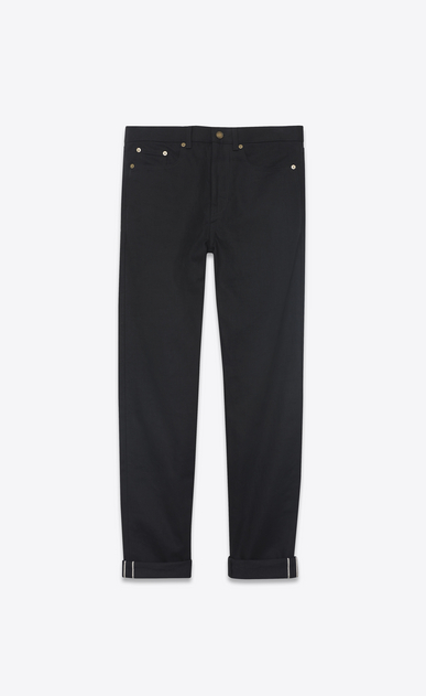 SAINT LAURENT Baggy U Baggy jeans in raw black denim a_V4
