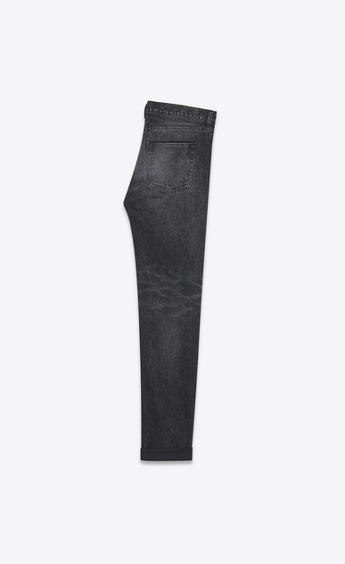 SAINT LAURENT Baggy U Repaired baggy destroy jeans in faded black denim b_V4