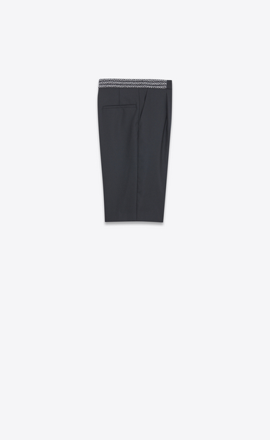 SAINT LAURENT Classic Pant Man Black mohair Bermudas with ethnic waist b_V4