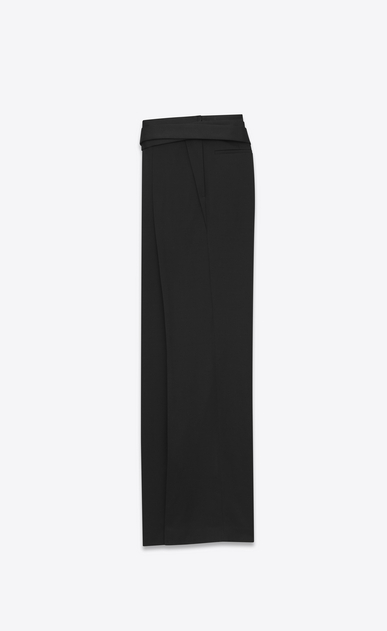 SAINT LAURENT Classic Pant U HAKAMA trousers belted in black organic gunpowder b_V4