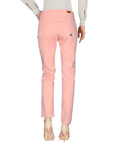 Фото 2 - Повседневные брюки лососево-розового цвета