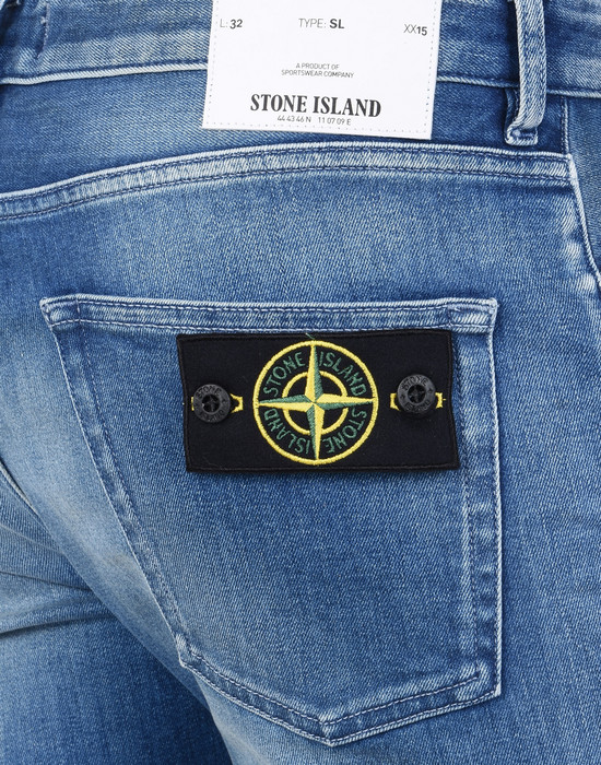 13108664pe - PANTS - 5 POCKETS STONE ISLAND