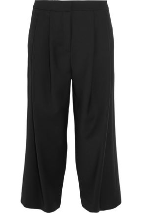 ADAM LIPPES Stretch wool-blend crepe culottes