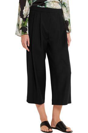 ADAM LIPPES Stretch wool-blend crepe culottes