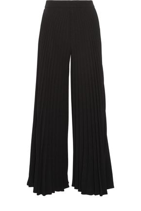 CO Pleated crepe wide-leg pants