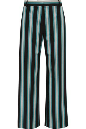 TOPSHOP UNIQUE Beale striped satin-twill pants