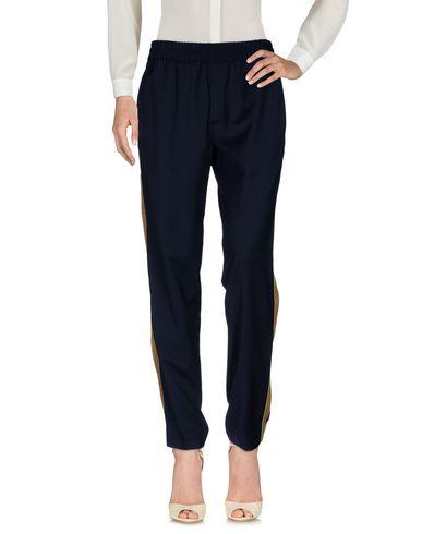 Фото - Повседневные брюки от PALM ANGELS темно-синего цвета
