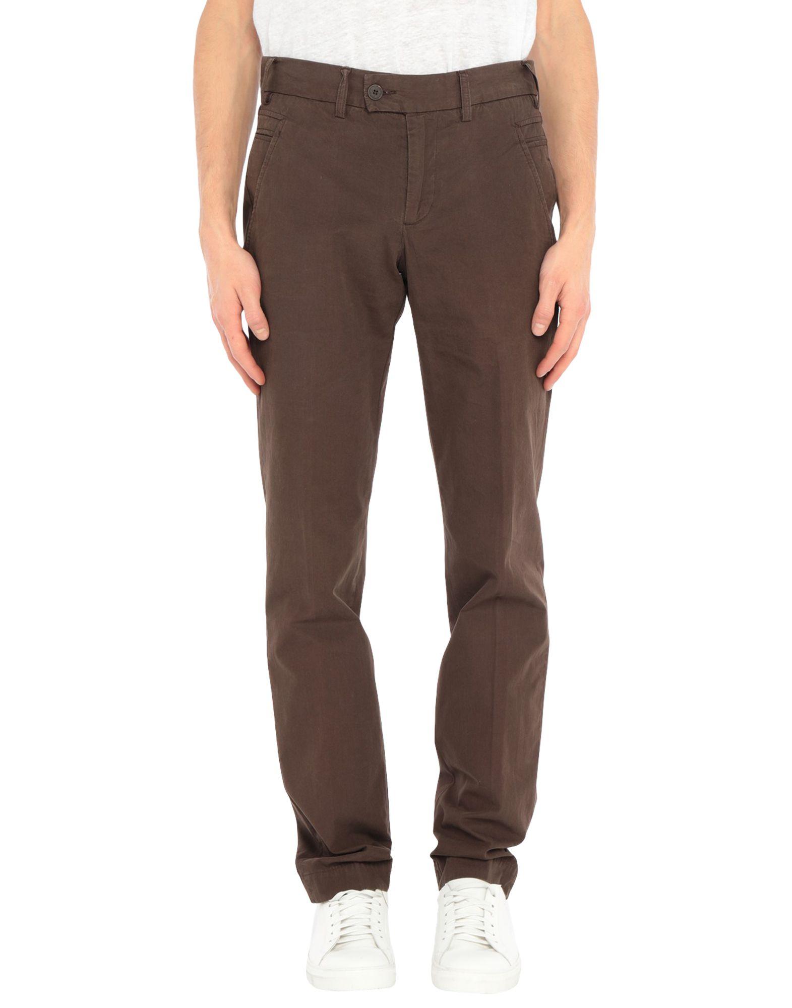 《セール開催中》MANUEL RITZPIPO メンズ パンツ ダークブラウン 46 コットン 100%