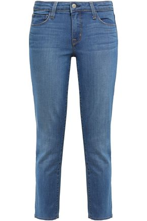 L'AGENCE Cropped mid-rise slim-leg jeans
