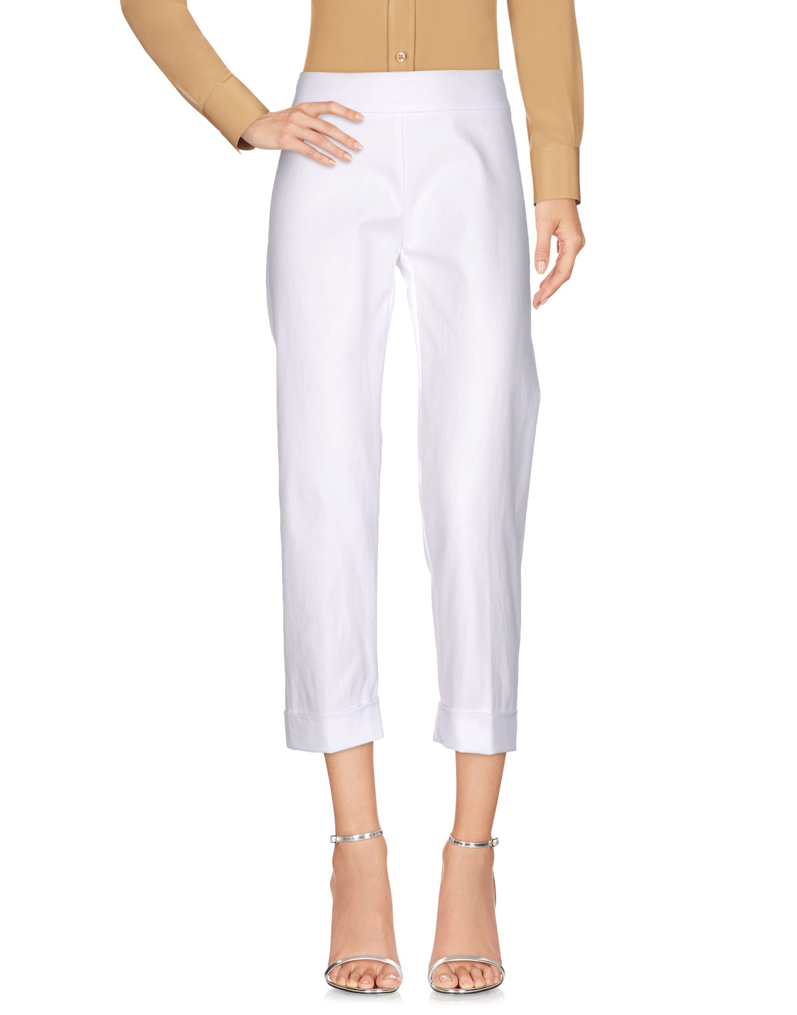 AVENUE MONTAIGNE Cropped Pants & Culottes in White