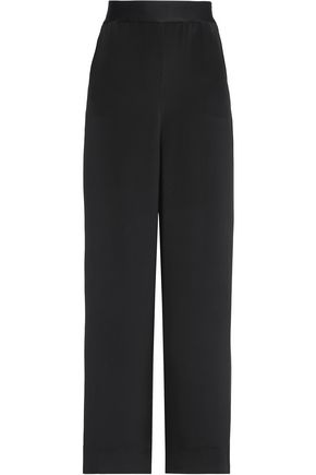 ROLAND MOURET Silk wide-leg pants