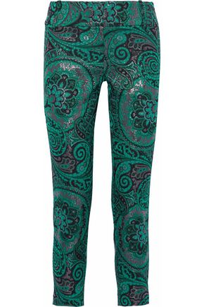 ALICE + OLIVIA Jacquard straight-leg pants