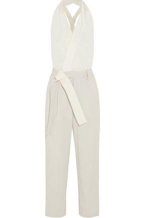 3.1 PHILLIP LIM Silk crepe de chine and waffle-knit cotton jumpsuit