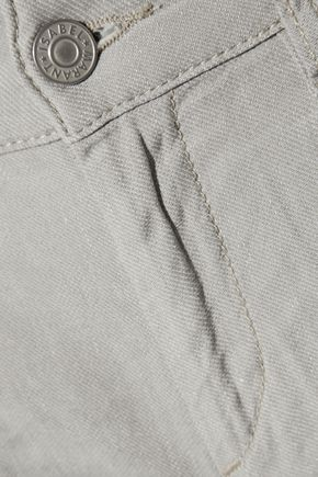 ISABEL MARANT ÉTOILE Nora linen and cotton-blend skinny pants