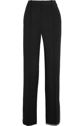 CHLOÉ Striped cady wide-leg pants