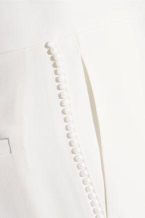 CHLOÉ Pompom-embellished cady tapered pants