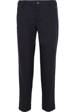 A.P.C. Isabelle cropped cotton and wool-blend tapered pants