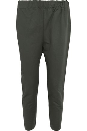 MARNI Cropped cotton and linen blend-twill pants