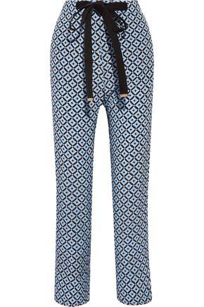 MARNI Printed silk crepe de chine wide-leg pants