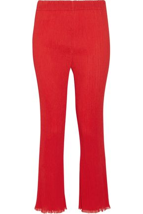 BY MALENE BIRGER Ralano cropped plissé-crepe straight-leg pants