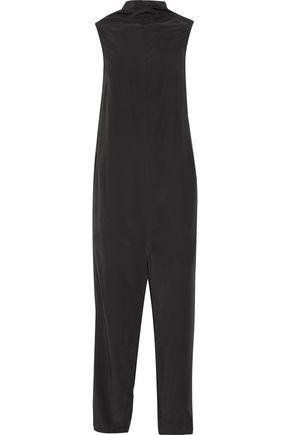 RICK OWENS Draped crepe jumpsuit