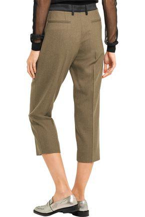 MAISON MARGIELA Cropped wool-gabardine slim-leg pants