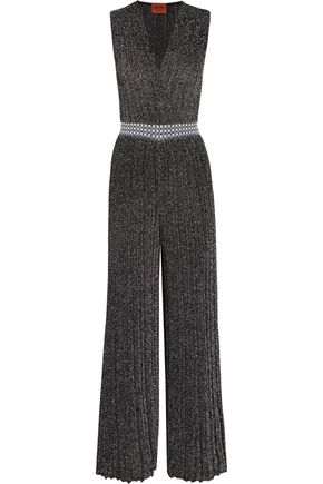 MISSONI Metallic knitted jumpsuit