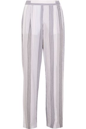 Striped Cotton Blend Wide Leg Pants by Stella Mc Cartney